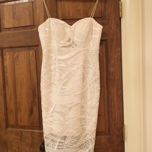 Aidan Mattox White Cocktail Dress